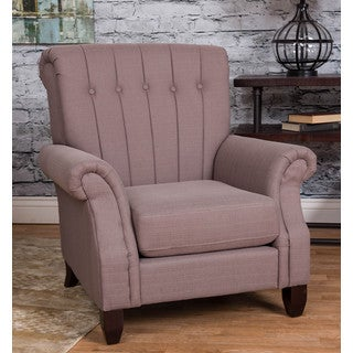 Somette Grey Tufted Accent Chair