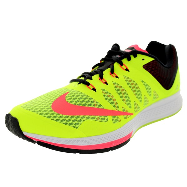 ed30a51eaec8 Shop Nike Men s Zoom Elite 7 Volt Hyper Punch Black Running Shoe ...