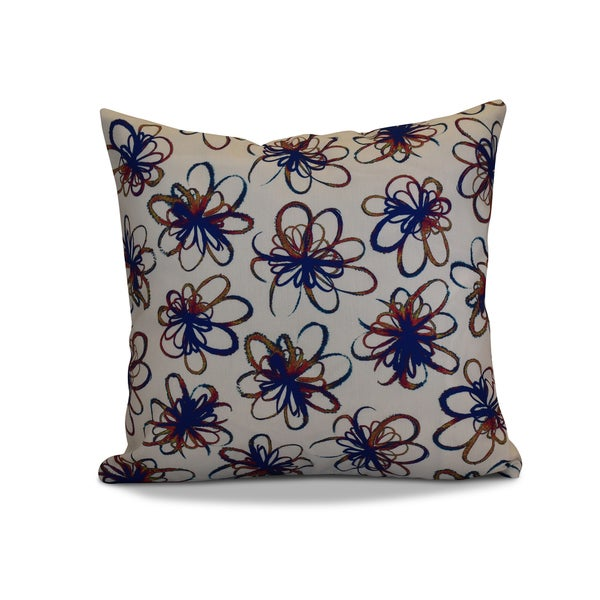 18 x 18-inch, Penelope, Floral Holiday Print Pillow