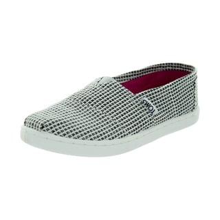 Toms Kid's Classic Herringbone Silver Glmr Herringbone Casual Shoe