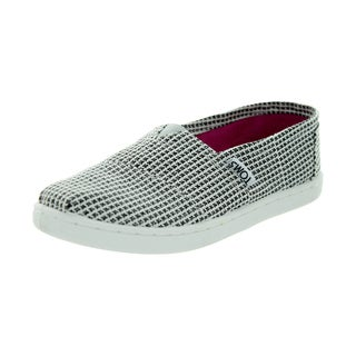 Toms Kid's Classic Herringbone Silver Glmr Herringbone Casual Shoe (Option: 5.5)