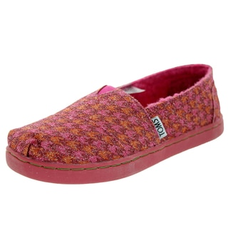 Toms Kid's Classic Houndstooth Red Glmr Casual Shoe