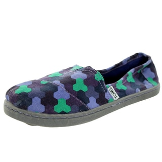 Toms Kid's Classic Geometric Purple Geometric Casual Shoe
