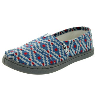 Toms Kid's Classic Diamond Woven Navy Diamond Casual Shoe