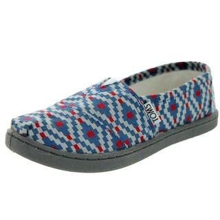 Toms Kid's Classic Diamond Woven Navy Diamond Casual Shoe (Option: 5.5)