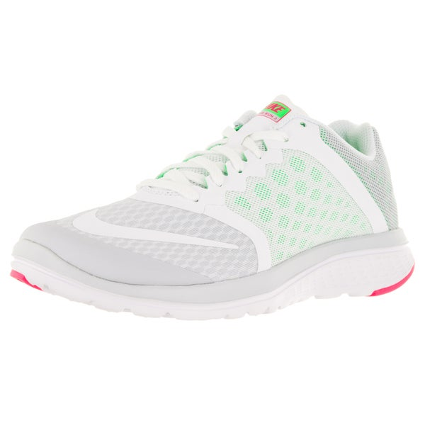 33b51103dd9d Shop Nike Women s Fs Lite Run 3  White  G  P Running Shoe - Free Shipping  Today - Overstock.com - 12321388