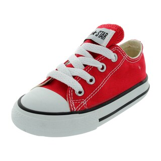 Converse Infants Red/White Canvas Shoe