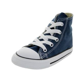 Converse Toddler's Chuck Taylor Allstar Navy Canvas High-top Casual Shoe|https://ak1.ostkcdn.com/images/products/12321438/P19154274.jpg?impolicy=medium
