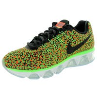 Nike Women's Air Max Tailwind 8 Green/Black/ Orange/White Running Shoe