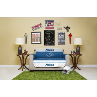 Detroit Lions Licensed NFLPolyester Love Seat Protector