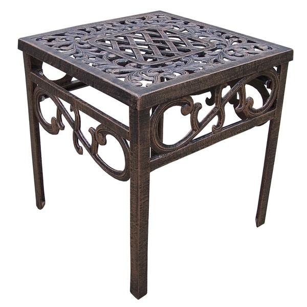 Dakota Cast Aluminum Square Side Table