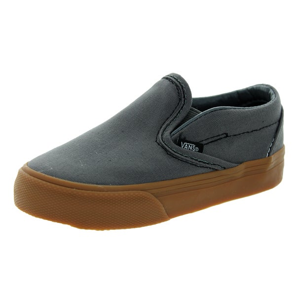 ccccac5019 Shop Vans Toddlers Classic Slip-On Pewter Gum Skate Shoes - Free ...
