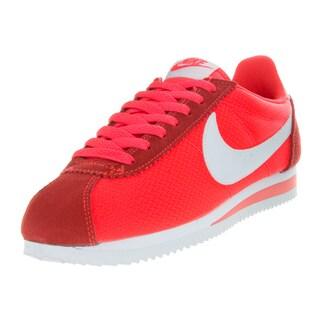 Nike Women's Classic Cortez Nylon Brightt Crimson/White Casual Shoe