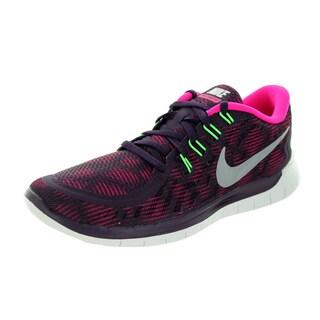 Nike Women's Free 5.0 Print Nbl Purple/ite/Pink/ Running Shoe