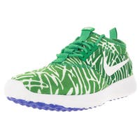 Nike Women's Juvenate Print Spring Leaf/White/Racer Blue Casual Shoe 6 Women US
