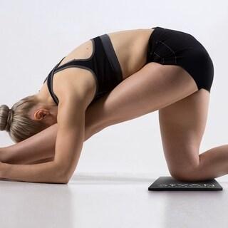 Sivan Health And Fitness 15-millimeter Black Yoga Knee Pad