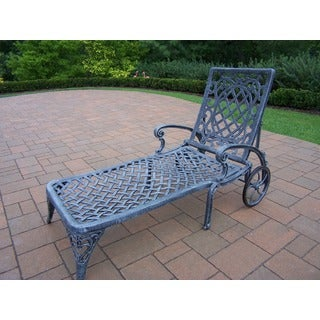 Explorer Grey Cast Aluminum Wheeled Chaise Lounge