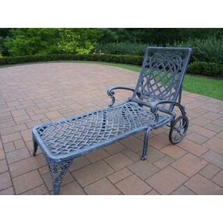 Dakota Grey Cast Aluminum Wheeled Chaise Lounge