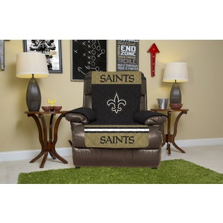 New Orleans Saints Microfiber Licensed NFLRecliner Protector
