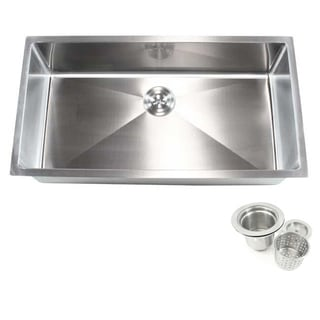 36-inch Stainless Steel Single Bowl Undermount 15-millimeter Radius Kitchen Sink