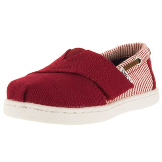 Toms Toddlers Tiny Bimini Red Casual Shoe
