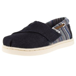 Toms Toddlers Tiny Biminis Blue Denim Casual Shoe
