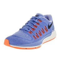 Nike Women's Air Zoom Odyssey Chalk Blueue/Black/ Orange Running Shoe