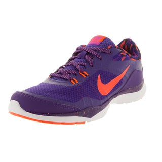 Nike Women's Flex Trainer 5 Print Purple/ Orange/Vvd Purple/Bl Training Shoe