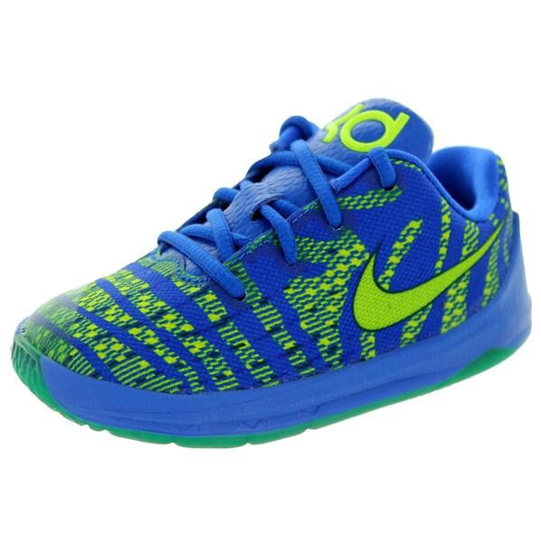 online store 583c9 50882 Nike Toddlers' Kd 8 Hyper Cobalt/Volt/Royal Blue Basketball Shoe