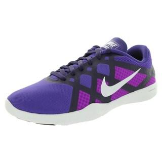 Nike Women's Lunar Lux Tr Purple/White/Vvd Purple/Vlt Training Shoe