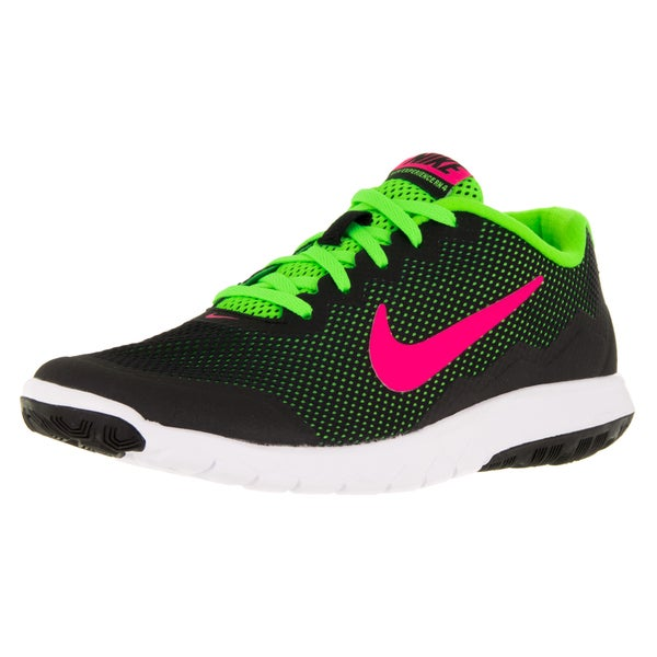 2eb5186e0802 Shop Nike Women s Flex Experience 4 Black Pink Blast Electric Green ...