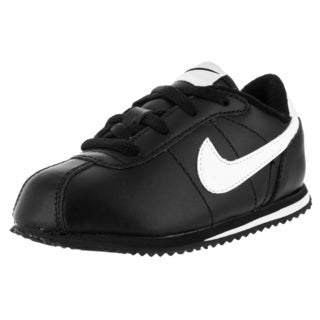 Nike Toddler's Cortez '07 Black and White Leather Casual Shoes