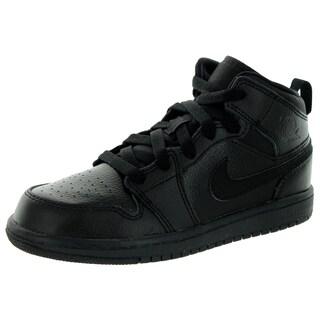 Nike Jordan Kid's Jordan 1 Mid Bp Black Basketball Shoe