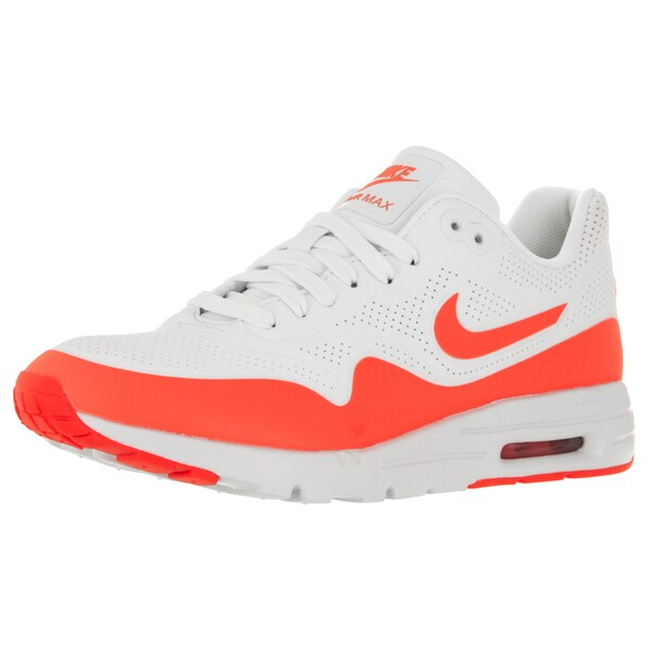 Nike Women's Air Max 1 Ultra Moire Summit WhiteTotal Crimson Running Shoe