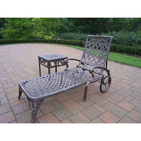 Dakota Cast Aluminum 2-piece Antique Bronze Lounge Set