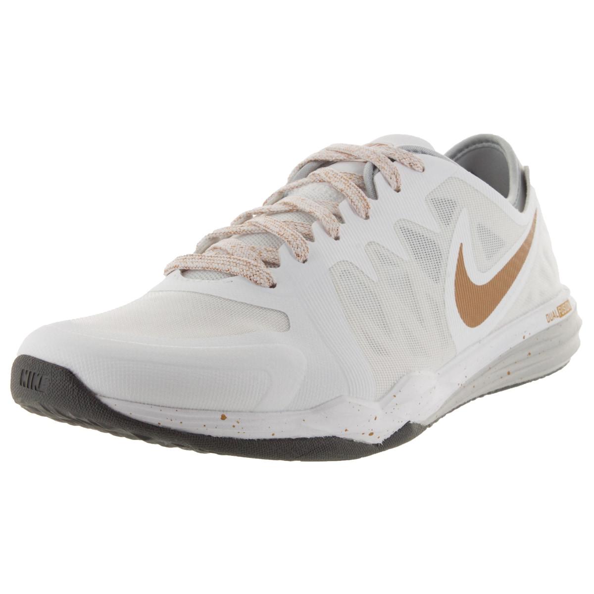 Nike Women's Dual Fusion Tr 3 Print White/Mlc Gld/Wlf G T...
