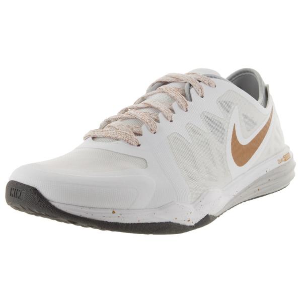 buy popular 56c84 39b60 Nike Women  x27 s Dual Fusion Tr 3 Print White Mlc Gld