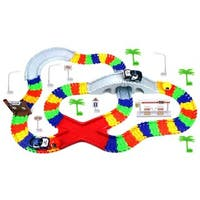 Velocity Toys Create-A-Road 'High Speed Chase' Police Series 142-Piece Toy Car & Flexible Track Playset - Red