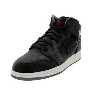 Nike Jordan Kid's Air Jordan 1 Mid Bg Black/Gym Red/Anthrct/Grey Basketball Shoe