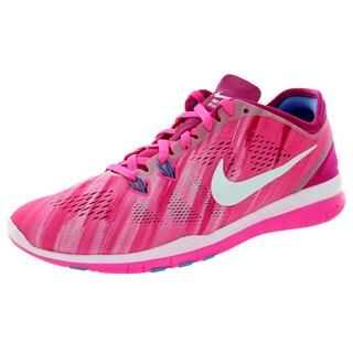 Nike Women's Free 5.0 Tr Fit 5 Prt Pink Pow/White/Fireberry/Polar Training Shoe