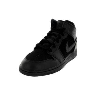Nike Jordan Kid's Air Jordan 1 Mid Bg Black Basketball Shoe
