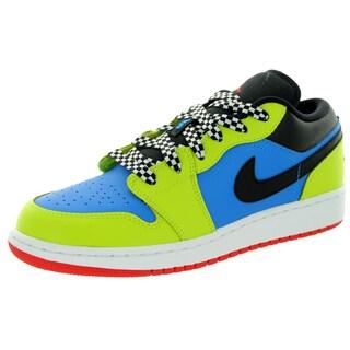 Nike Jordan Kid's Air Jordan 1 Low Bg Photo Blue/Chllng Red/Cybr/Black Basketball Shoe