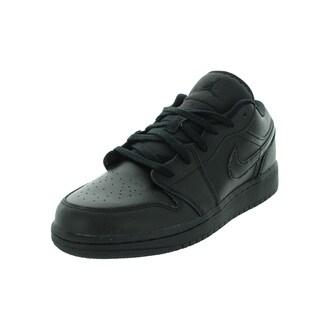 Nike Jordan Kid's Air Jordan 1 Low Bg Black Basketball Shoe