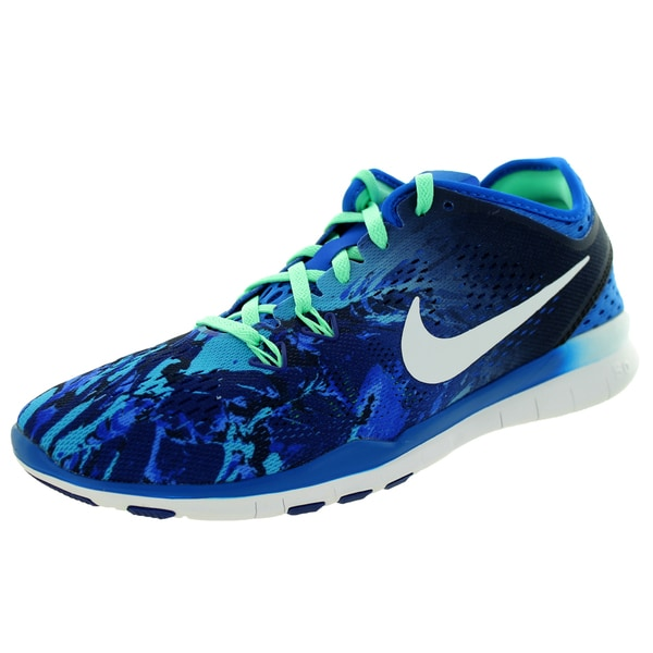 d7385097e072 Shop Nike Women s Free 5.0 Tr Fit 5 Prt Soar White Royal Blueue G ...
