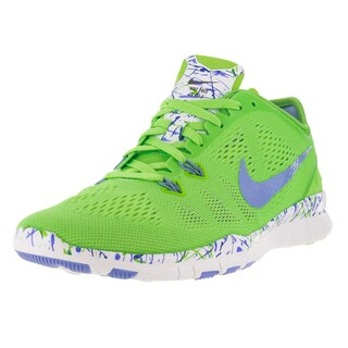 Nike Women's Free 5.0 Tr Fit 5 Prt Voltage Green/Chalk Blueue/White Training Shoe