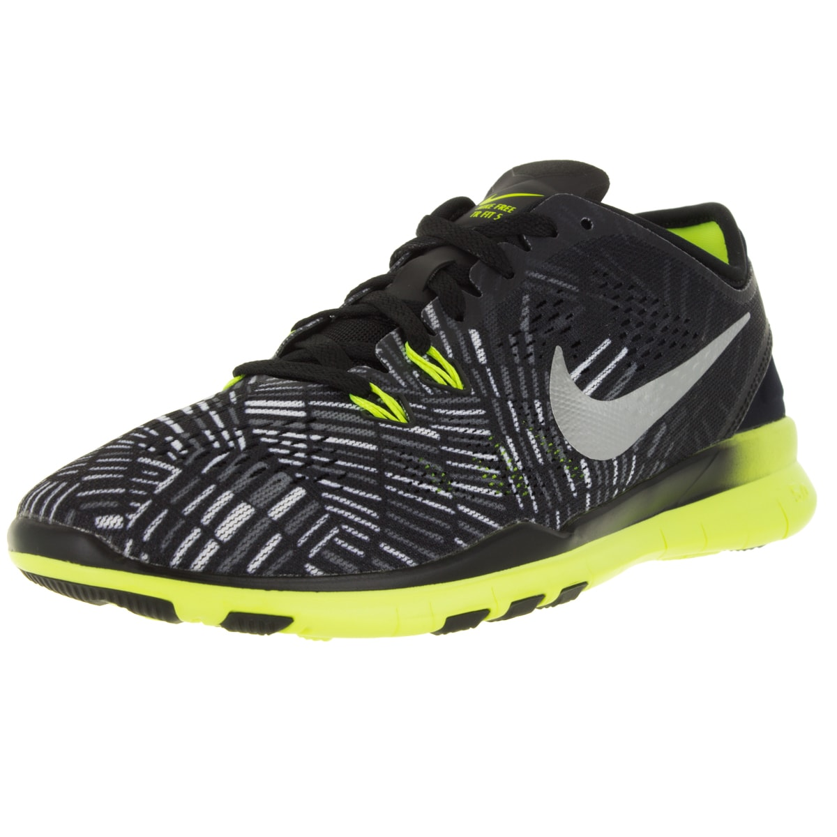 Nike Women's Free 5.0 Tr Fit 5 Prt Black/Metallic Silver/...
