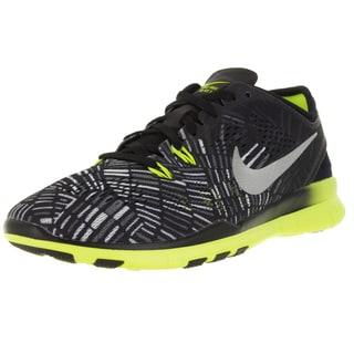 Nike Women's Free 5.0 Tr Fit 5 Prt Black/Metallic Silver/Volt Training Shoe