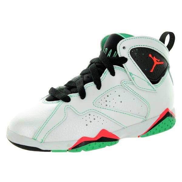 promo code 025ea dabab Nike Jordan Kid  x27 s Jordan 7 Retro Gp White Infrared Black