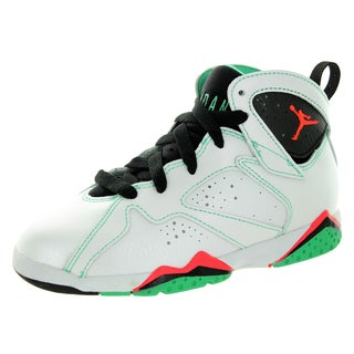 Nike Jordan Kid's Jordan 7 Retro Gp White/Infrared/Black/Verde Basketball Shoe