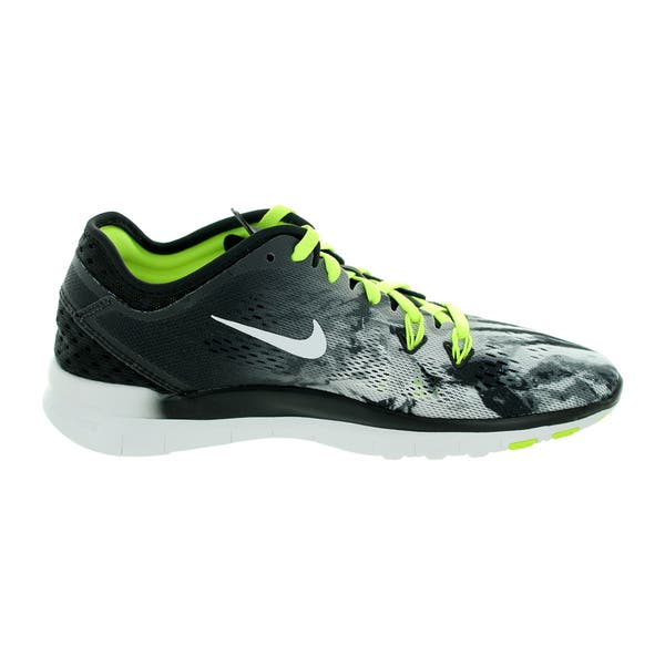 best website 1a6f7 cce1f Shop Nike Women's Free 5.0 Tr Fit 5 Prt Black/White/Volt ...